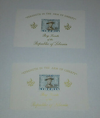 Liberia Boy Scouts Of The Republic Of Liberia 1961 2 Minisheet 35C Imperforated