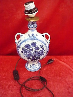 Beautiful,antique Lamp__lamp base__Delft__De Porceleyne Fles