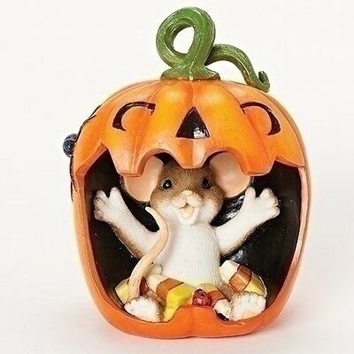 Charming Tails It's a Real Mouthful Halloween Mouse Figurine NEW 30387 2016