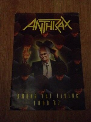 ANTHRAX AMONG THE LIVING TOUR PROGRAMME 1987! Thrash Slayer Venom Metallica