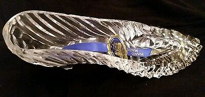 Tipperary Irish Crystal Of Kings Large Glass Slipper Shoe 17cm long