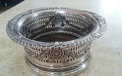 Vintage  - Ornate Victorian Wine Coaster /Caddy  (Silver plated )