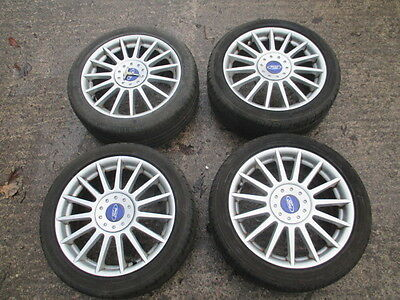 "Ford Focus St 170 Genuine 17"" Alloy Wheels & Tyres + Centre Caps - Set Of 4"