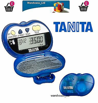 Tanita PD637 Blue Audio Pace Pedometer Activity Monitor Step Counter PD-637 New