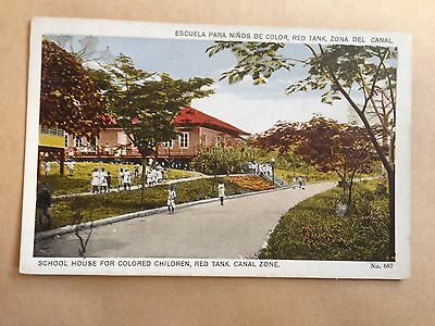 School House For Colored Children Red Tank Canal Zone Panama Postcard Usa