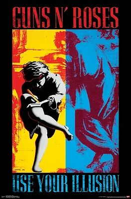GUNS N ROSES - USE YOUR ILLUSION POSTER - 22x34 MUSIC BAND 14517