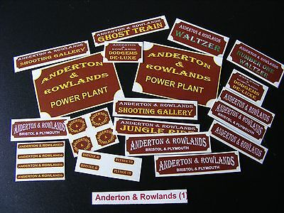 Anderton & Rowlands Sticker Collection (Ms1)