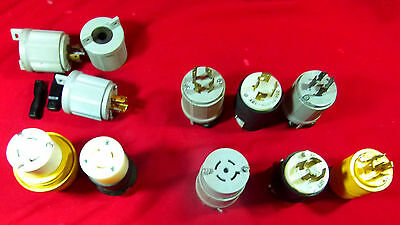 Misc Lot Of Twist Lock Plugs And Parts