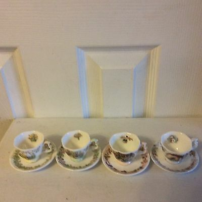 Set Of Royal Doulton Brambley Hedge Mini Cups And Saucers