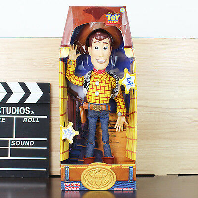 "16"" WOODY Talking Doll Original Kid Dolls Toy Story 3 Pull String Figure Sheriff"