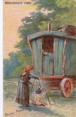 Original Postcards (5) Gypsy Series Signed By Parsons Norman