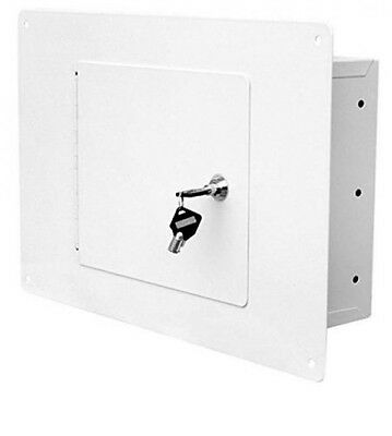 NEW Wall Safe Hidden Flat Gun Flush Cabinet Home Security Lock Box Jewelry Cash