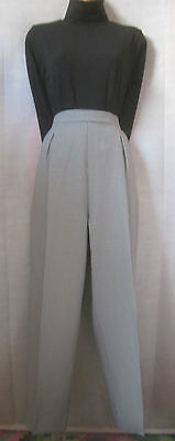 Vintage 1980's Dogtooth Check High WaistTapered  Mom Trousers 14 16