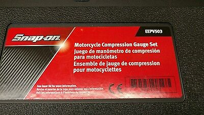 Snap on motorcycle compression tester kit