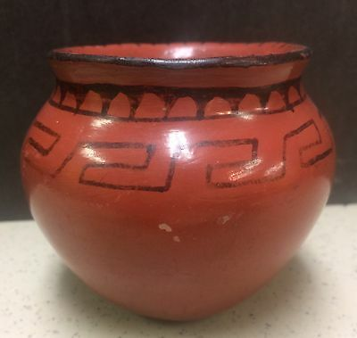 "Maricopa Indian Native American Pottery Jar Vintage 3"" Old Hopi?"