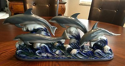 "~VERY RARE & Large 22.00"" Lladro ""The Dolphins"" (6436 Mint Condition)"
