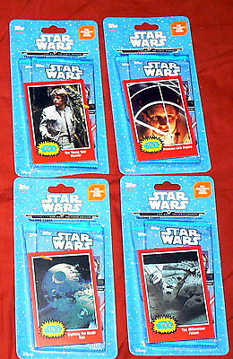 4 X 2015 Disney Topps Journey to Star Wars: The Force Awakens 2 Pack Unopened #4