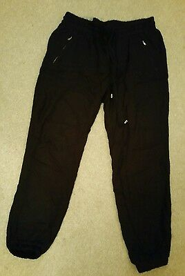 BNWT New Look Black Cropped Maternity Trousers Size 12
