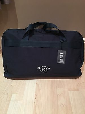 Brand New Mens Abercrombie & Fitch Navy Blue Canvas Travel/gym/weekend Bag