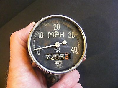 ORIGINAL VINTAGE SMITHS 0 - 40 MPH SPEEDOMETER FOR MOTORCYCLE? Model 51895/1995