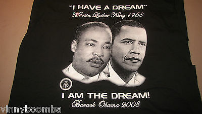 Vintage President Obama & Martin Luther King Tee Shirt I Have A Dream 2008 3Xl !