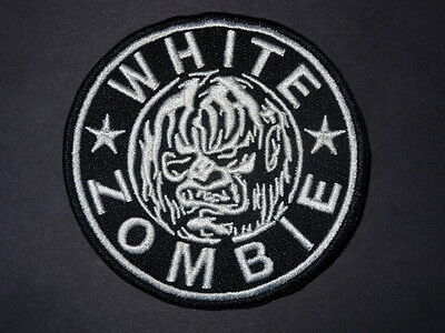 "Patch ""WHITE ZOMBIE"" 3.25 inches in diameter NICE GRAPHICS"
