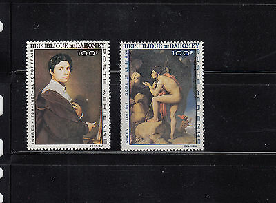 Dahomey 1967  Painter Ingres  Sc C49-C50  complete Mint Never Hinged