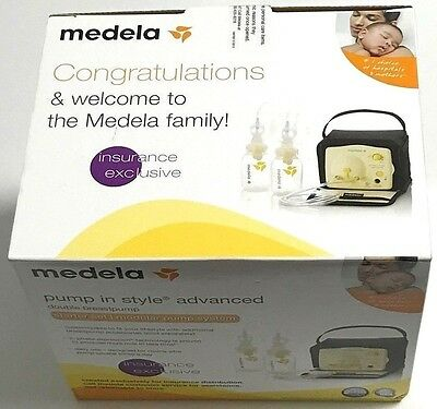 MEDELA Pump In Style Advanced DOUBLE BREAST PUMP Starter Set NEW Factory Sealed