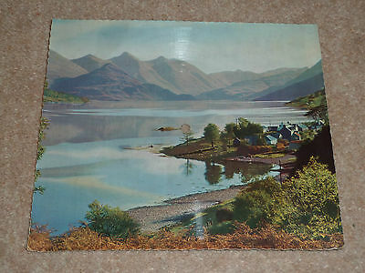 Kintail, Ross and Cromarty Scotland - musical Recordoview postcard - Wonderdisc