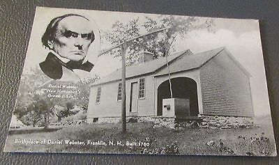 Old Postcard  FRANKLIN, NEW HAMPSHIRE   { BIRTHPLACE OF DANIEL WEBSTER}