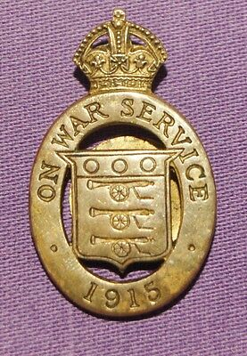 On War Service 1915 Lapel Badge