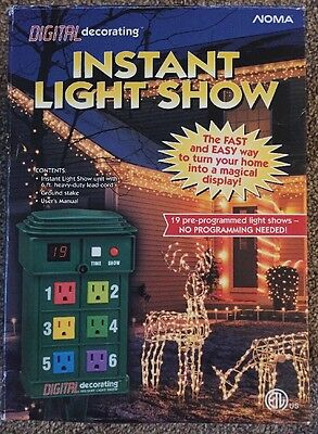Noma Digital Instant Decorating Outdoor Christmas Holiday Light Show 6 Outlet