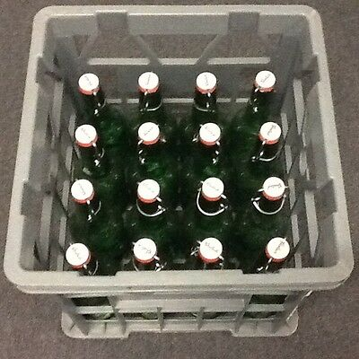 Grolsch Bottles 500ml (empty)  used once - Price is for 1 Crate 16 bottles