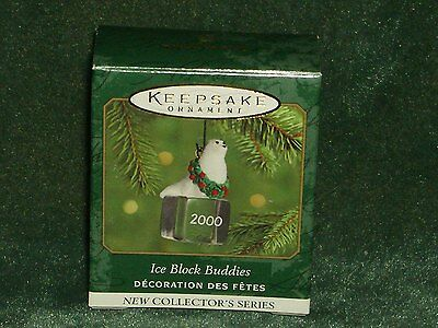 Hallmark 2000 Ice Block Buddies - Seal - 1st in Series Miniature Ornament NEW