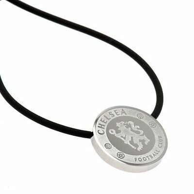 Chelsea F.C. Stainless Steel Pendant & Cord CR NEW