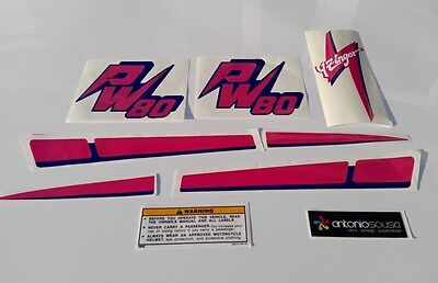 PW80 PW 80 Pee Wee Yzinger decal stickers aufkleber adesivi