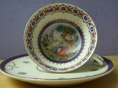 a lovely antique vienna porcelain cup and saucer beehive mark austrian austria