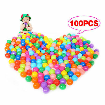 100pcs Multi-Color Cute Kids Soft Play Balls Toy for Ball Pit Swim Pit Pool TOUS