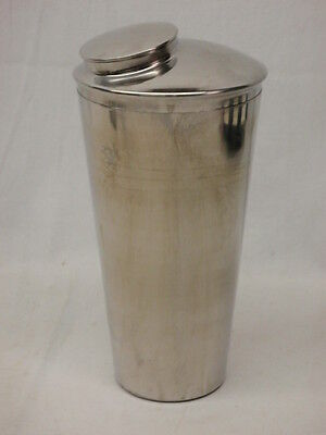 Vintage Stainless Steel Cocktail Shaker & Top - Very Good Condition