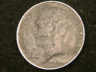 1913 Belgium 1 One Franc!! Km# 73.1 Very Nicer Silver Coin!! Free Shipping!