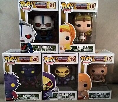 Funko Pop Vinyl - Masters Of The Universe Set Of 5 Never Opened. RARE & VAULTED!