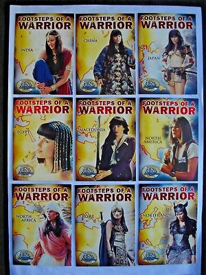 2002 Xena: Beauty & Brawn *footsteps Of A Warrior* Complete 9 Card Chase Set