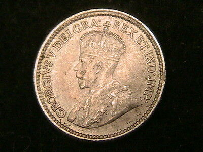 1914 Canada 5 Five Cents!! Km# 22 High Grade Silver Coin! Free Shipping! (1)