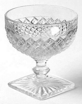 *miss America Crystal (1) Sherbet Anchor Hocking Depression B108-110-F