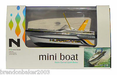 RC Yellow Mini Speed Boat 1:64 Scale 27MHz  BARGAIN SALE PRICE