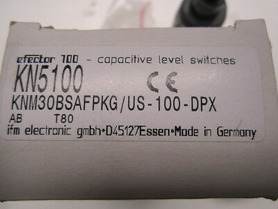 IFM Effector KN5100 KNM30BSAFPKG/US Capacitive Level Switch, NIB