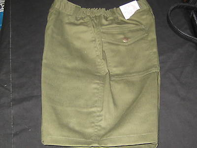 Boy Scout Elastic Waist Shorts,  size 16, waist 28, great for camping     411N