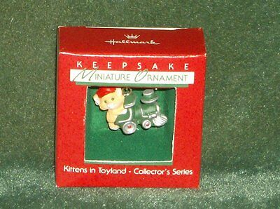 Hallmark 1988 Kittens in Toyland - 1st in Series - Miniature Ornament - NEW