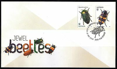 Australia: 2016 Jewel Beetles First Day Cover (s/a)