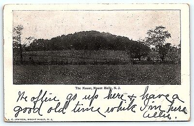 Postcard NJ Mount Holly 1905 View of the Mount D5